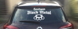 Hooligan Black Metal Rear Window Sticker