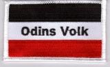 Odins Volk - schwarz/weiß/rot - (Aufnäher)