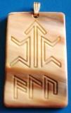 Kämpferamulett (Kettenanhänger - Horn)