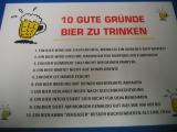 10 gute Gründe Bier zu trinken (Türschild)