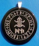 Amulett eines Kämpfers mit Schutzformel ALU (Wasserbüffelhorn)