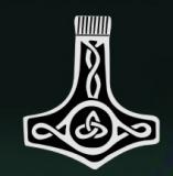 Thors Hammer / Mjöllnir (Autoaufkleber)