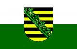 LÄNDERFAHNE / SACHSEN