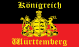 LÄNDERFAHNE / KÖNIGREICH WÜRTTEMBERG